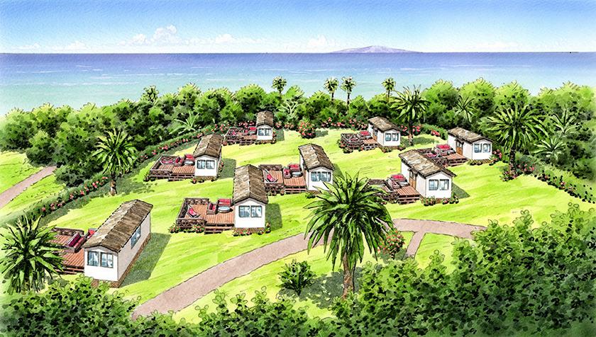 初島でグランピング! 「アジアンリゾート ヴィラ」熱海の離島に7月1日オープン